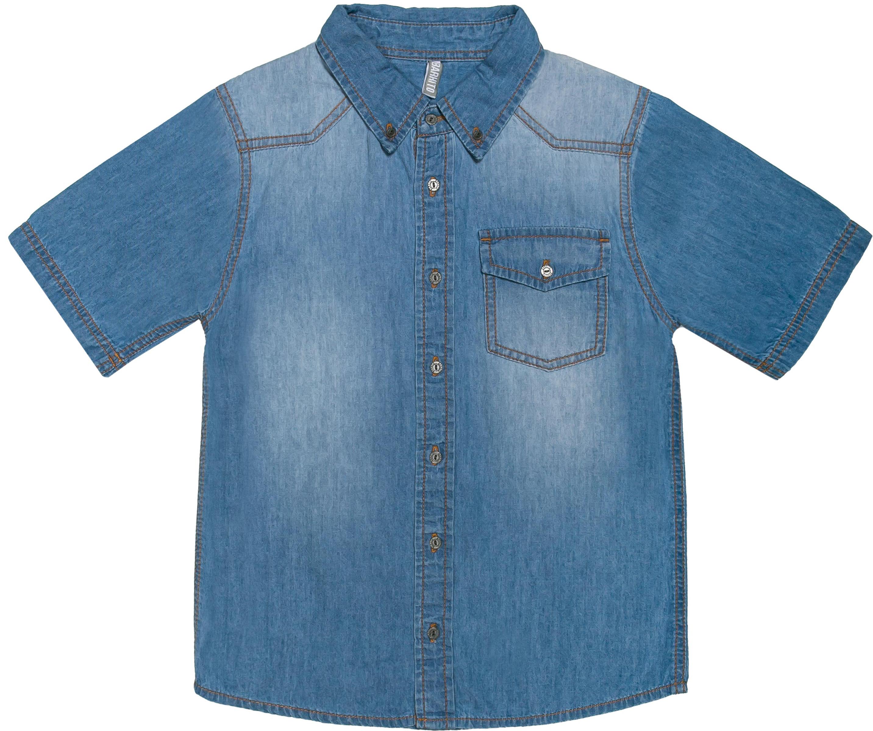 Сорочка с коротким рукавом для мальчика Barkito Деним полукомбинезон джинсовый для мальчика barkito деним