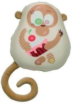 Мягкие игрушки СмолТойс Подушка-антистресс «Обезьянка Вишенка», СмолТойс смолтойс подушка антистресс гадкий я в31 31 см 2898 кр 31