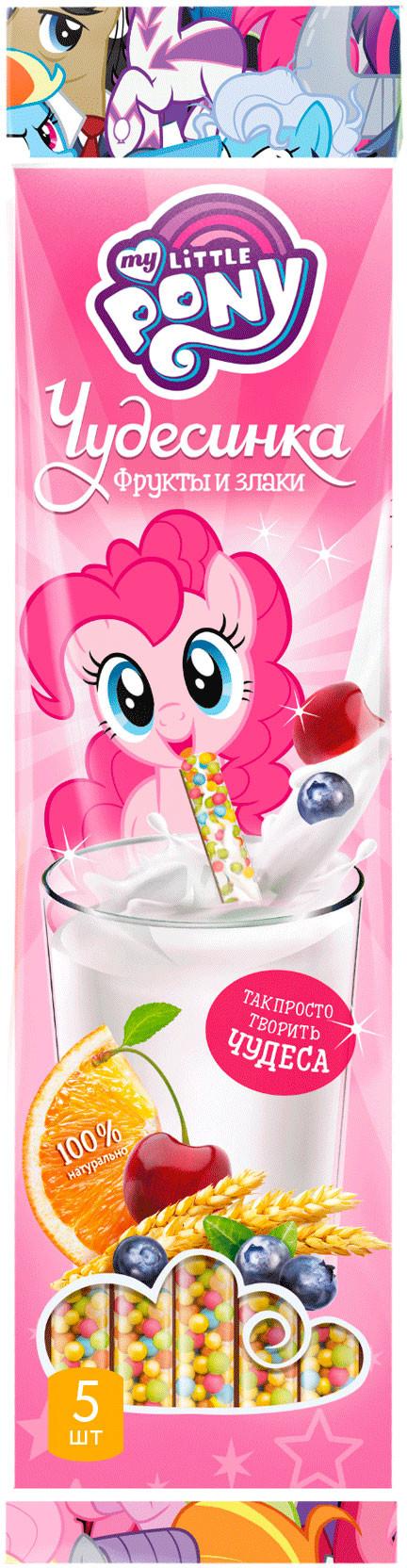 Соломинка для молока My Little Pony My Little Pony «Чудесинка» со вкусом фруктов и злаков с 3 лет 30 г