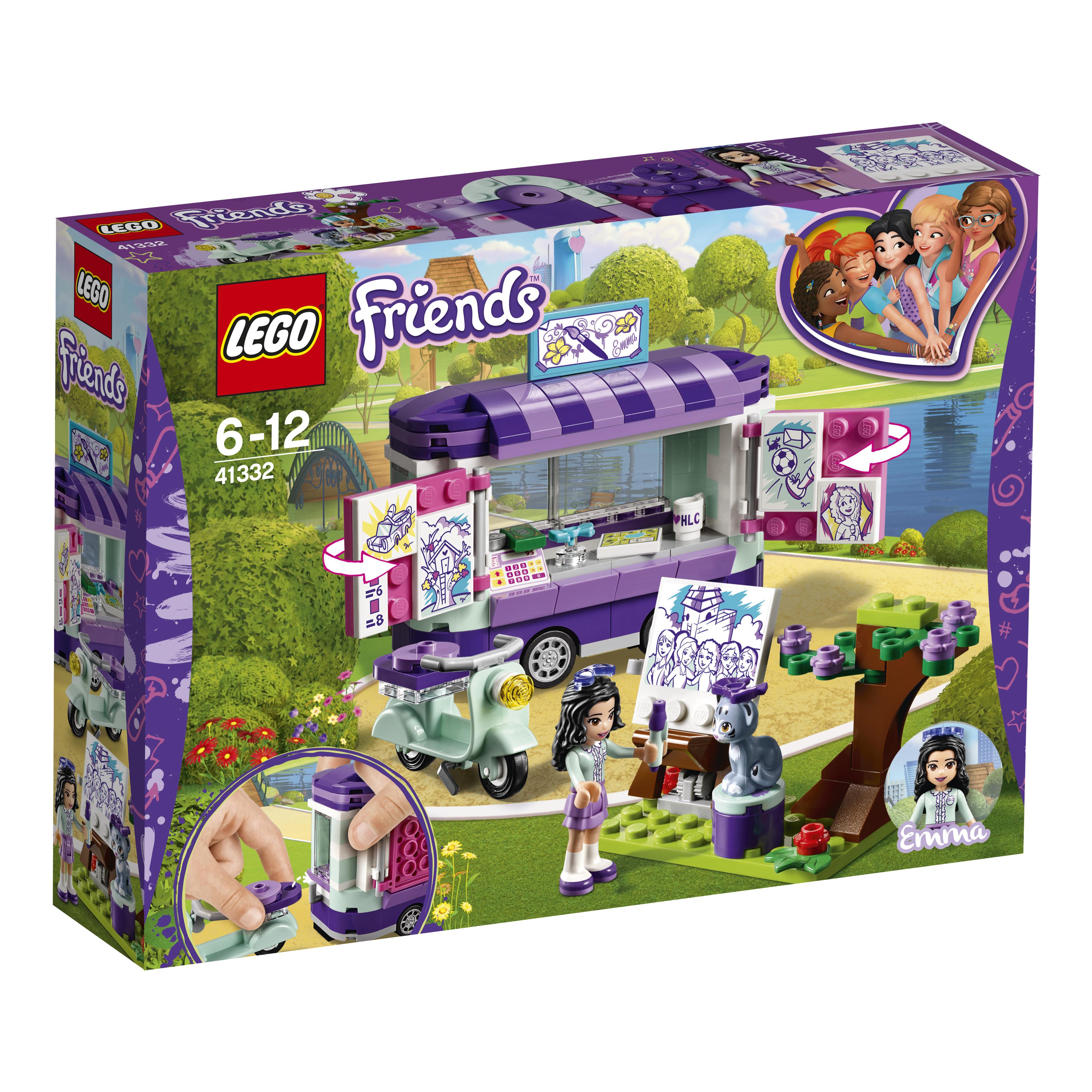 Конструктор LEGO Friends 41332 Передвижная творческая мастерская Эммы цена