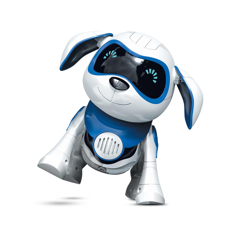 Купить Интерактивные животные, Интерактивная игрушка Mioshi Active «Весёлый пёс» 19 см, Китай, белый/синий/красный