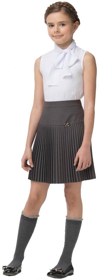 Форма для девочек Смена Блуза для девочки Смена, белая блуза вискозная встреча белая