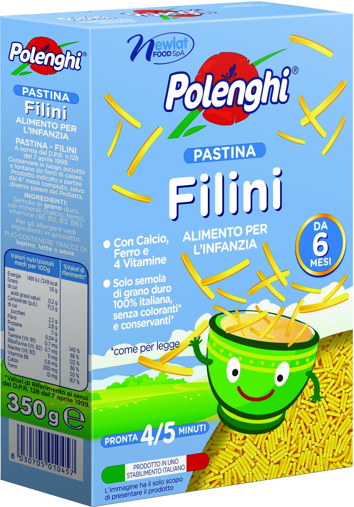 Макаронные изделия Polenghi Filini вермишель с 10 мес. 350 г