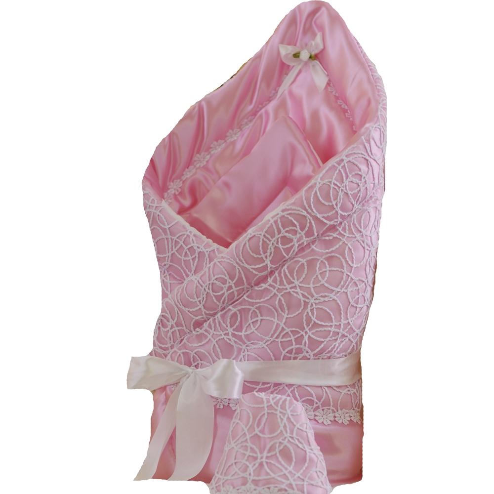 Комплекты на выписку Арго Одеяло на выписку для девочки Арго «Ажур», розовое цена