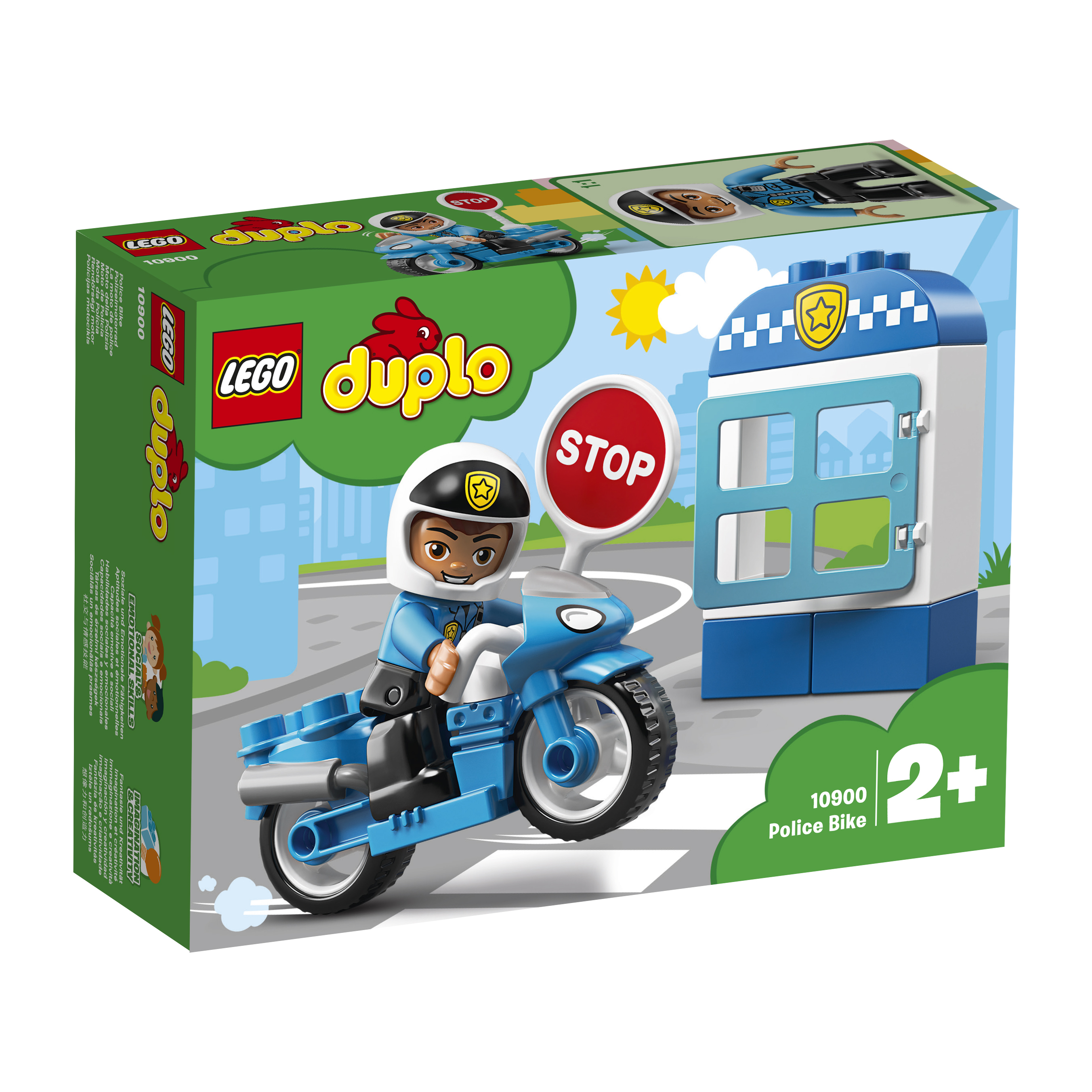 LEGO DUPLO LEGO Town 10900 Полицейский мотоцикл [mean well1] original mhb100 24s05 5v 20a meanwell mhb100 5v 100w dc dc half brick regulated single output converter