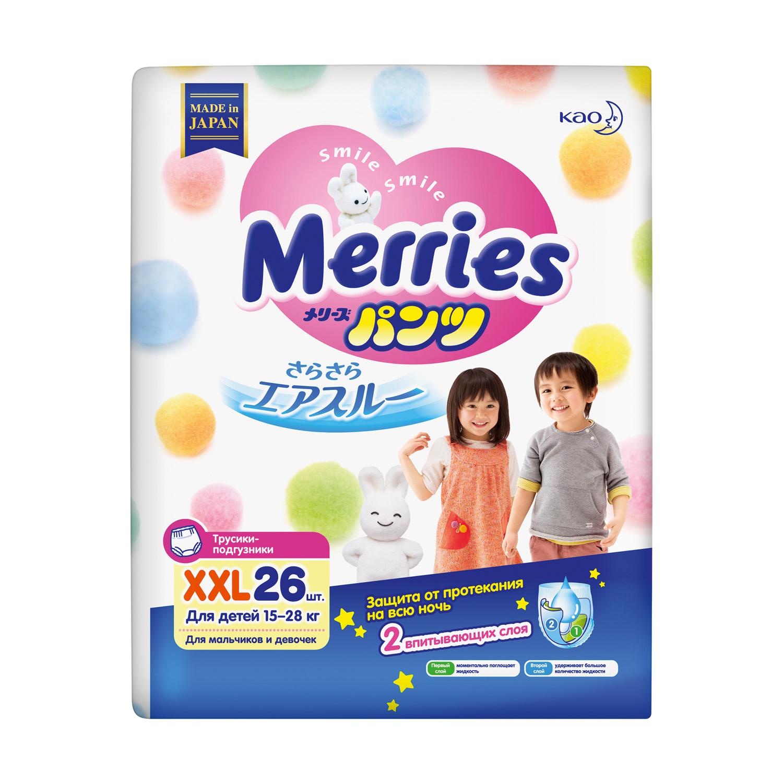 Купить со скидкой Трусики-подгузники Merries XXL (15-28 кг) 26 шт.