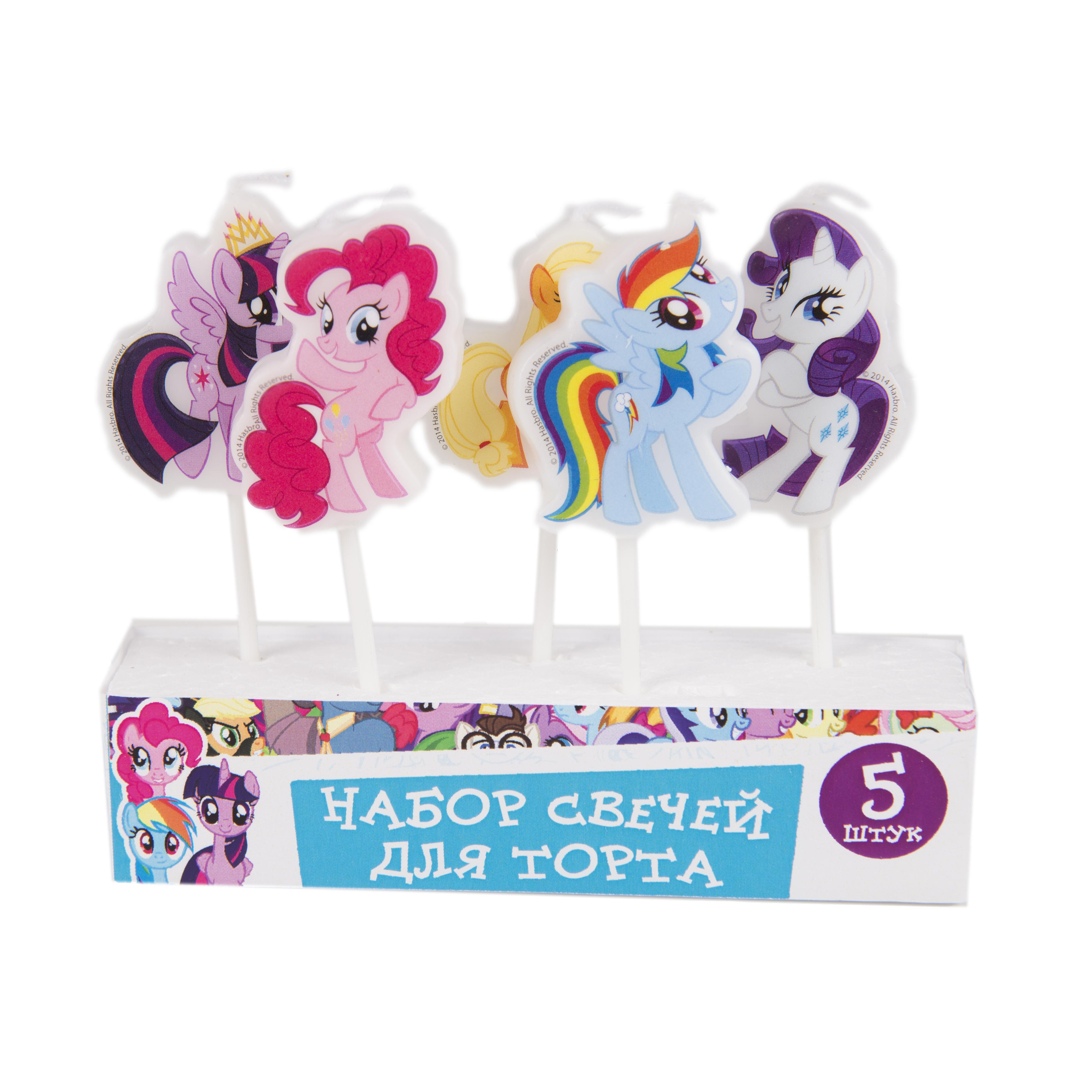 цена Набор свечей My Little Pony На палочках 5 шт онлайн в 2017 году
