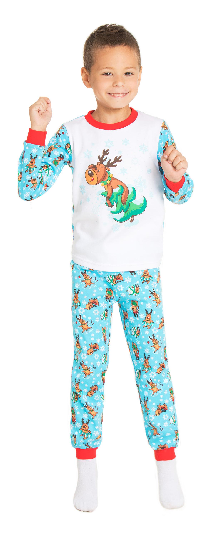 Пижама детская Barkito Сновидения белая с голубым пижама с шортами с рисунком
