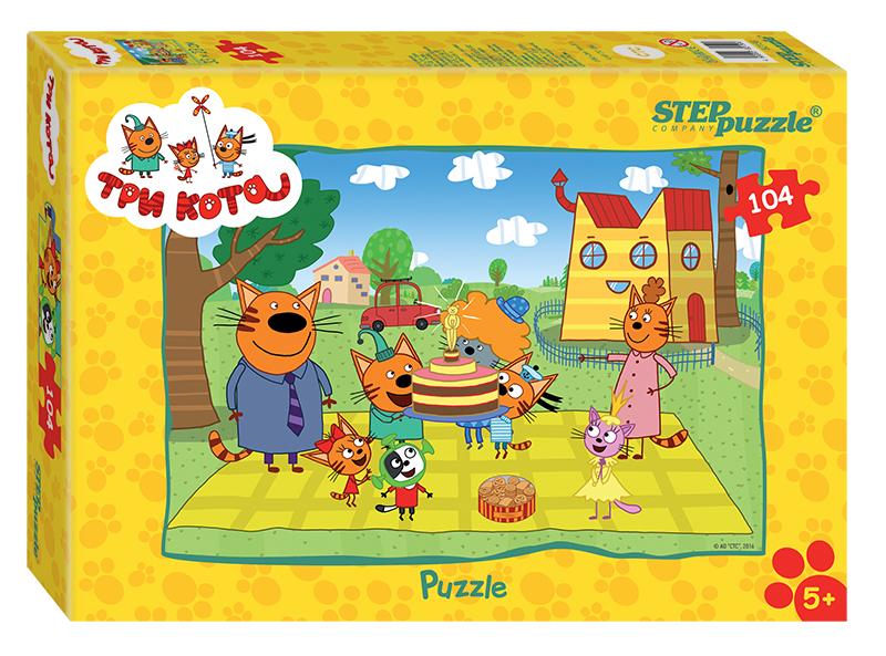 Пазлы Step Puzzle Три кота 104 эл. пазлы step puzzle 73058 дружная семейка