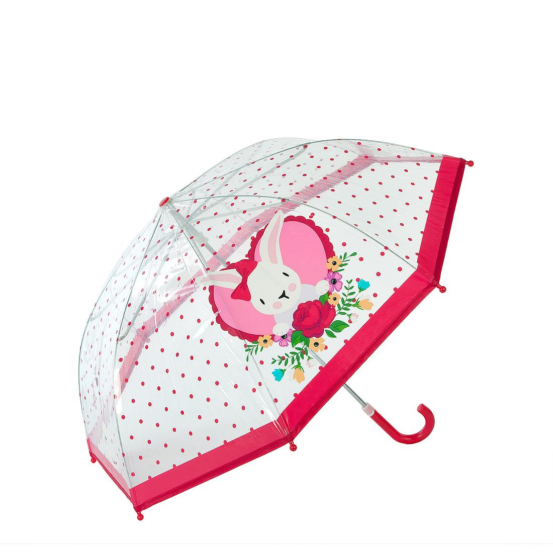 Зонты Mary Poppins Зонт детский Mary Poppins « Rose Bunny» прозрачный 46 см детские зонтики mary poppins автомобиль 46 см