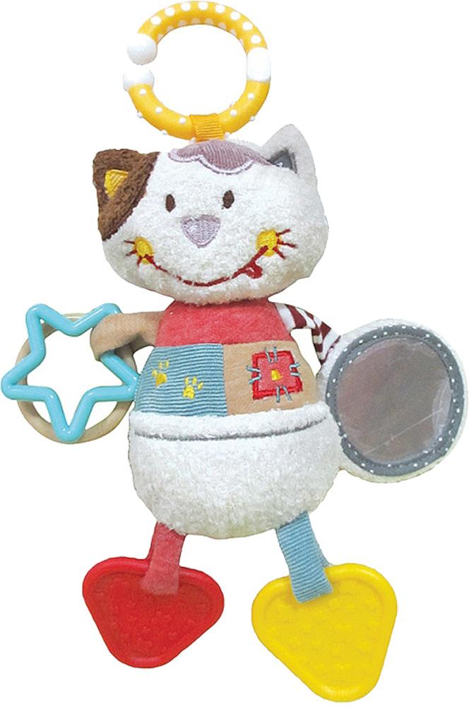 Подвеска Наша игрушка Кошечка Мими с зеркальцем, прорезывателями цена