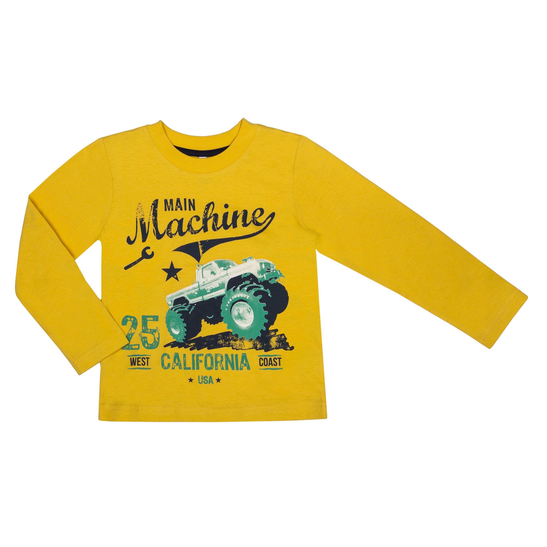 Купить Футболки, Футболка с длинным рукавом для мальчика Barkito «Механика 2», желтая, Узбекистан, желтый, Мужской