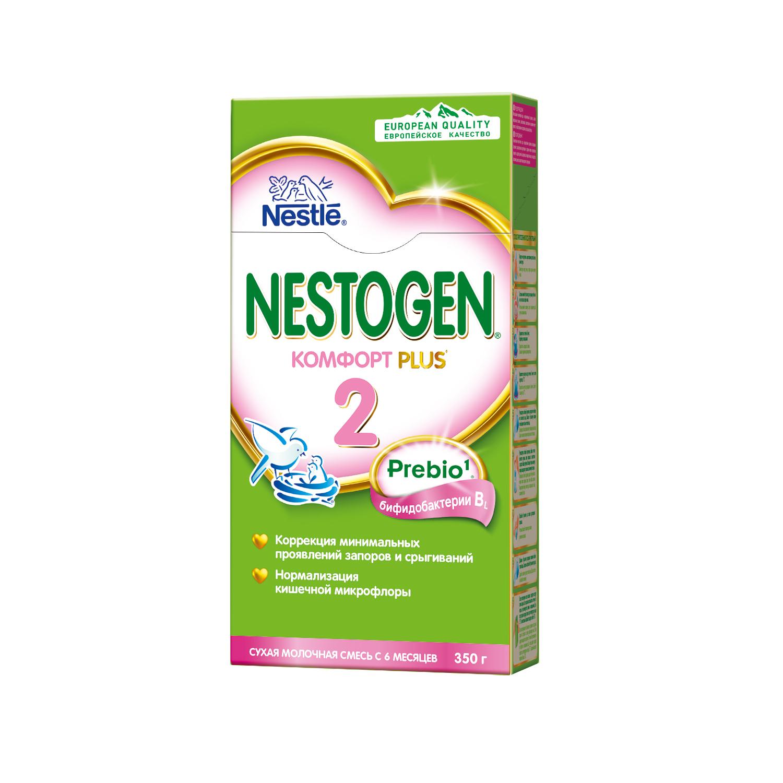 Молочная смесь Nestogen Комфорт Plus 2 с 6 мес. 350 г nestogen 2 смесь молочная с 6 месяцев 700 г