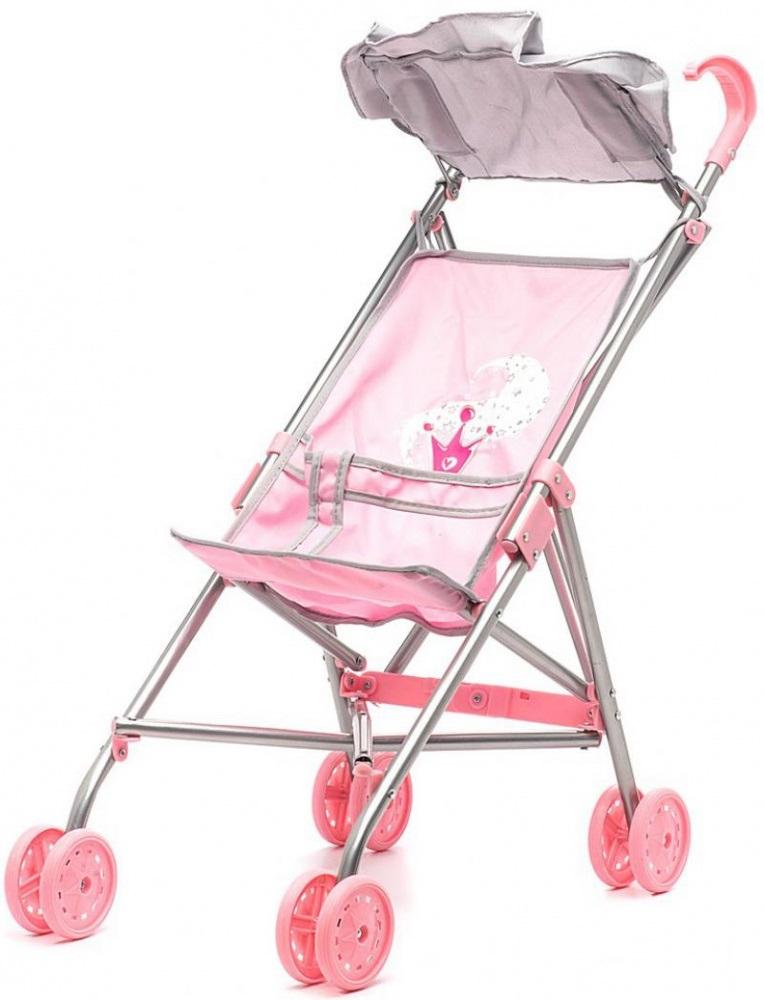 прогулочная коляска-трость для куклы Наша игрушка Корона цена 2017