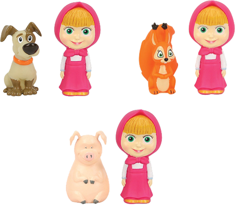 Игрушки для ванны Маша и Медведь Маша с животными в сетке брошь из кошачьего глаза и хрусталя маша