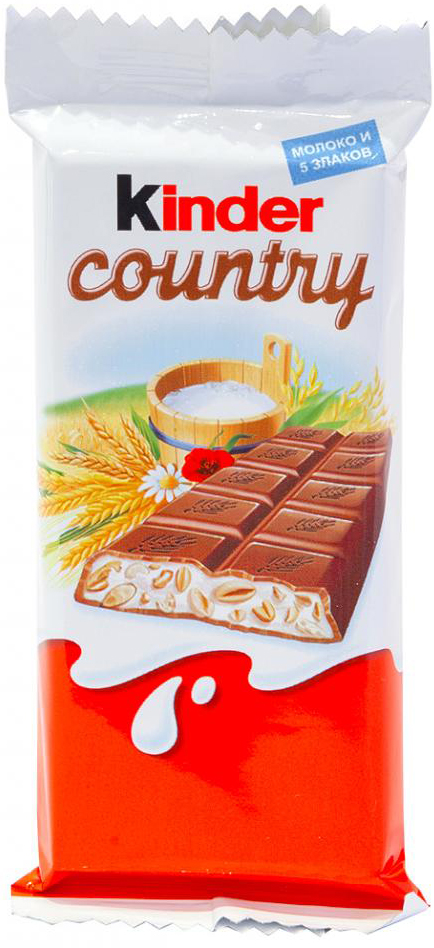 Купить Десерты, Kinder Chocolate Country молочный 23, 5 г, Россия