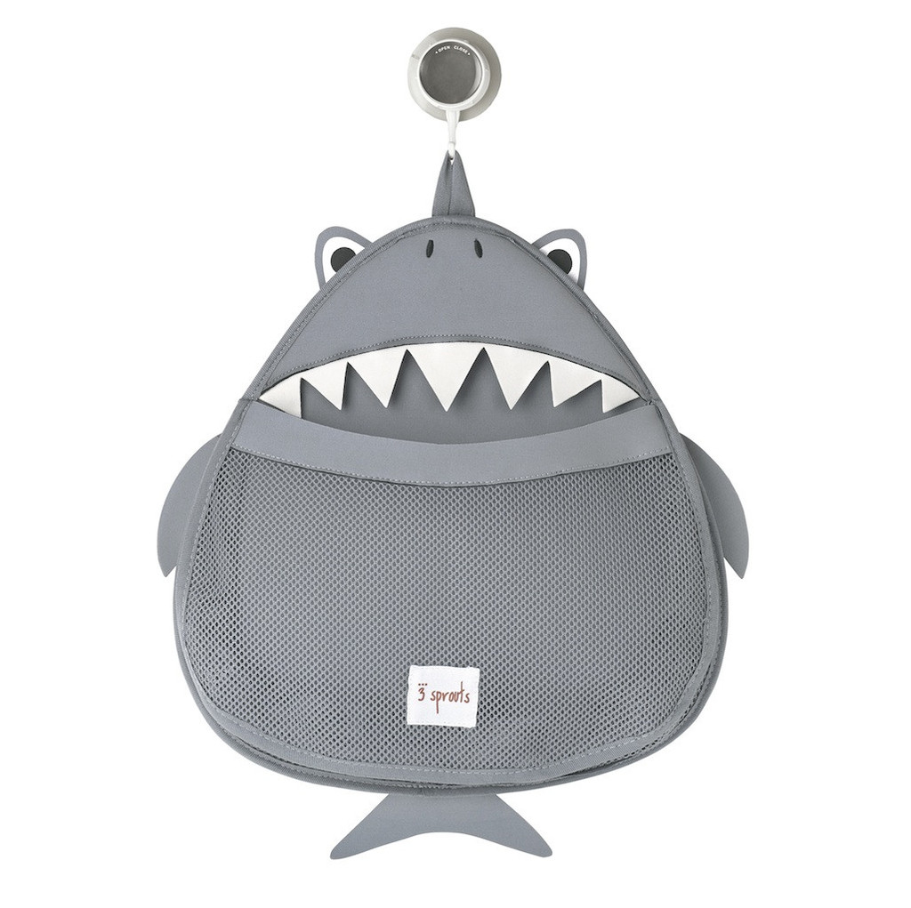Органайзер для ванны 3 Sprouts Grey Shark серая акула
