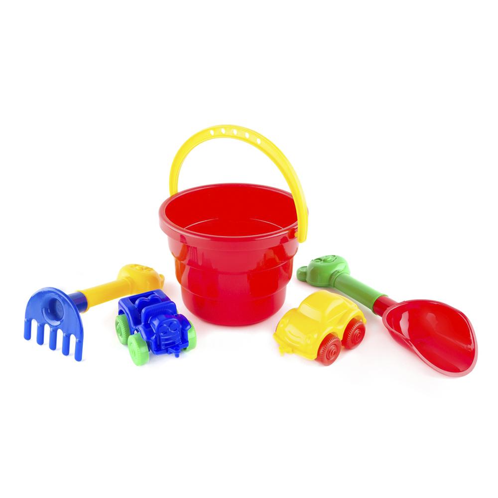Набор Пластмастер Для игры с песком с машинками машинки и техника пластмастер малютка