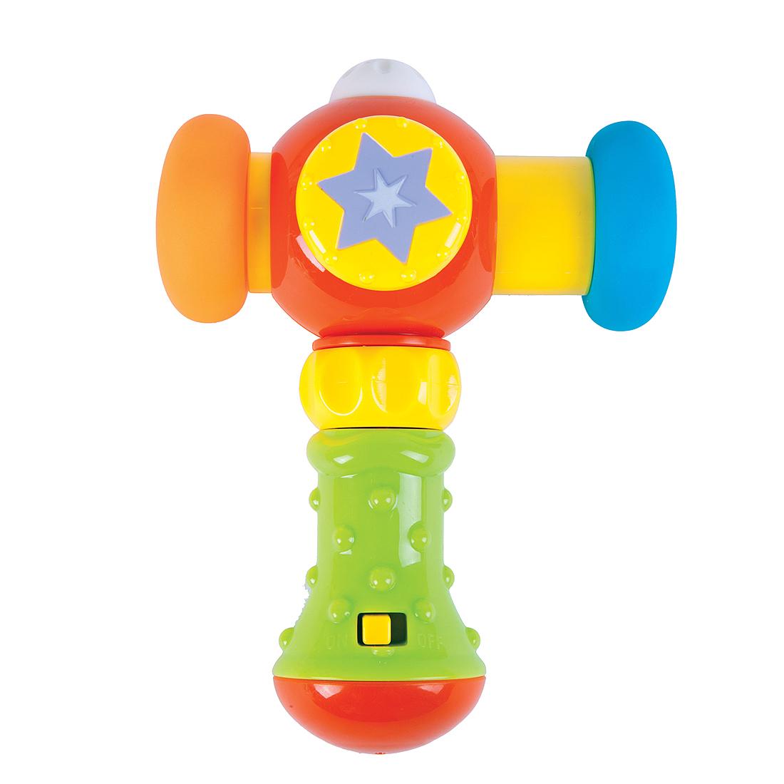 Развивающие игрушки Жирафики Развивающая игрушка Жирафики «Сияющий молоточек» с музыкой и светом игрушка микрофон со светом и музыкой