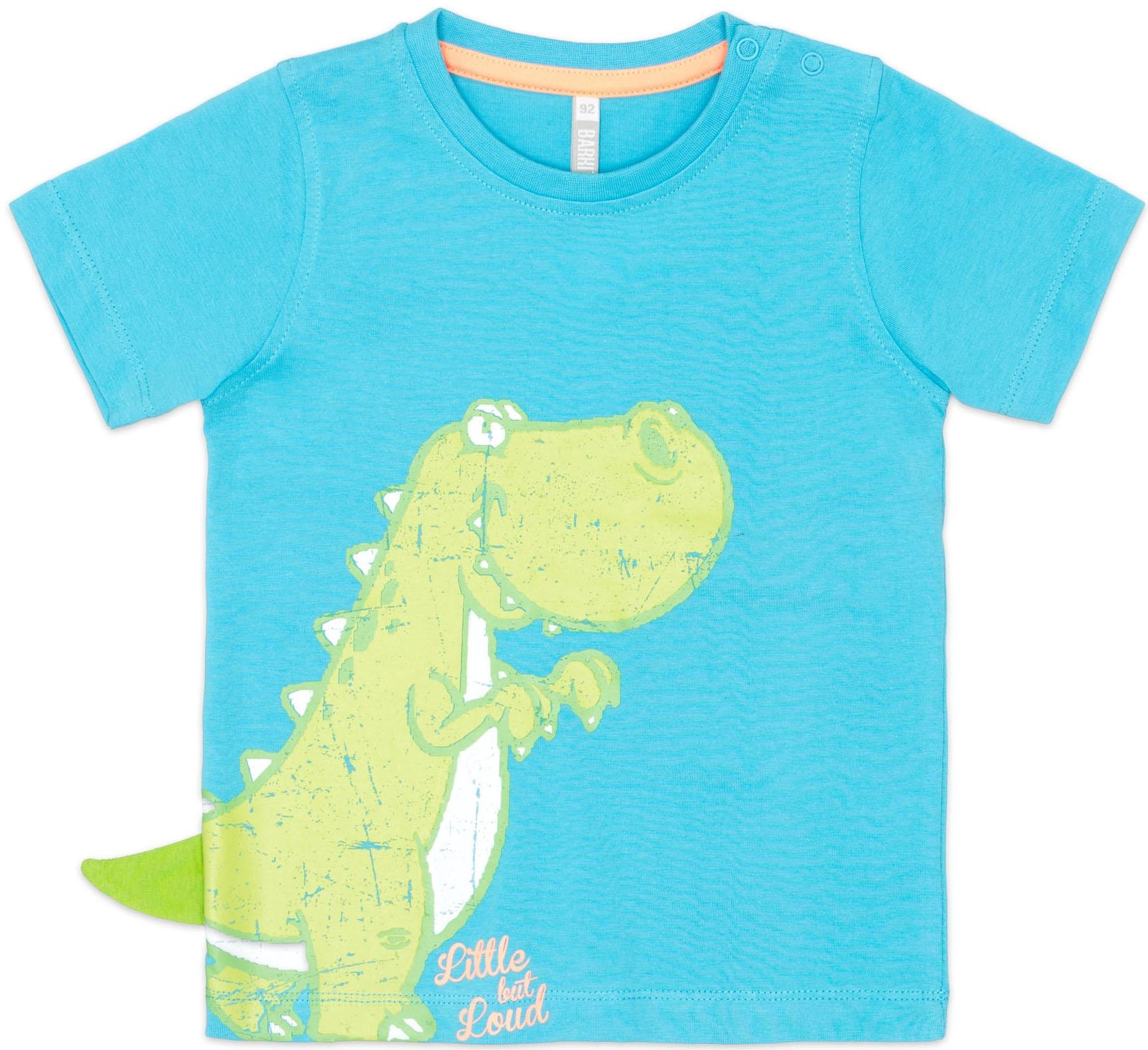 """где купить Футболки Barkito Футболка с коротким рукавом для мальчика Barkito, """"Динозаврики"""", голубая по лучшей цене"""