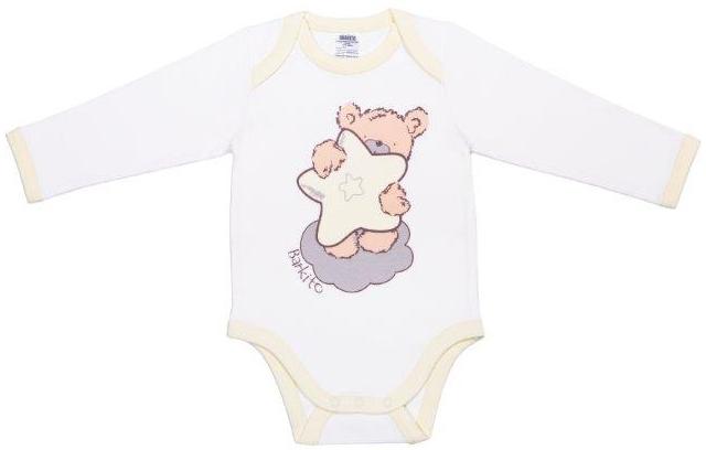 Первые вещи новорожденного Barkito с длинным рукавом Сладкие сны боди с длинным рукавом сладкие сны barkito белый с рисунком белый 2 шт