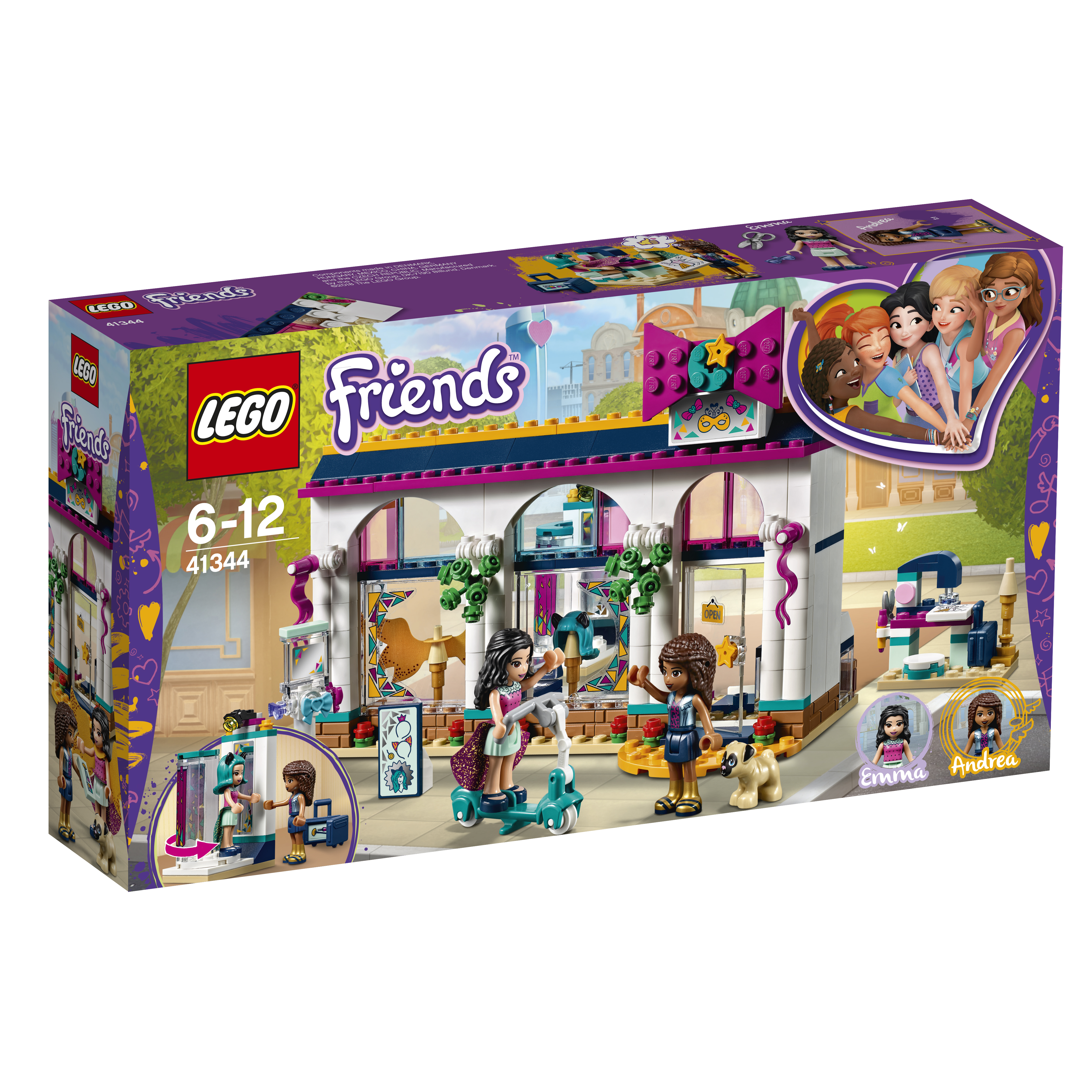 LEGO LEGO Конструктор LEGO Friends 41344 Магазин аксессуаров Андреа цена 2017