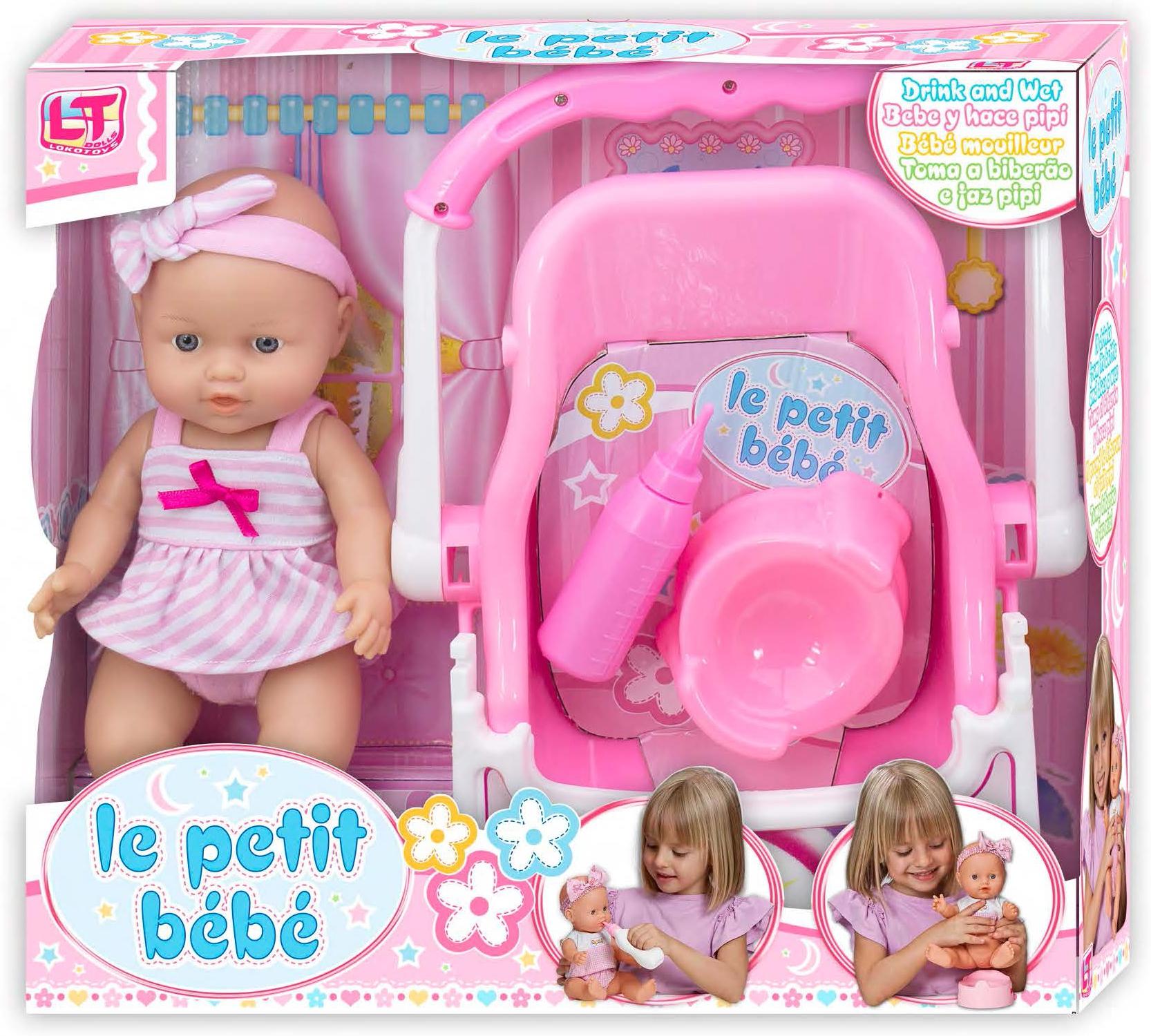 Купить Пупсы, Le Petit Bebe с автокреслом, LokoToys, Китай, в ассортименте, Женский