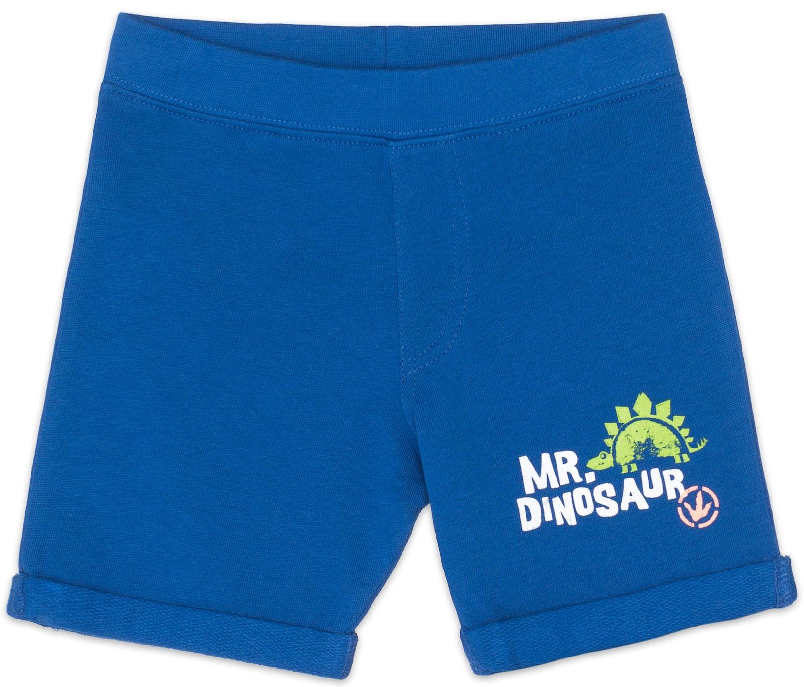 Шорты Barkito Шорты трикотажные для мальчика Barkito, Динозаврики, синие шорты barkito шорты джинсовые для мальчика barkito супергерой голубые