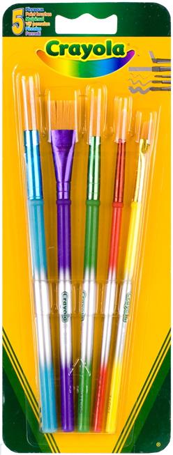 Кисточки Crayola Для красок 5 шт crayola набор кисточек для красок 5шт crayola