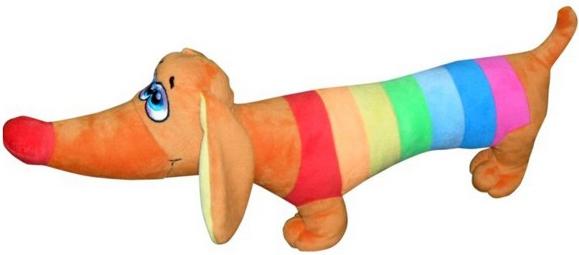 Мягкие игрушки СмолТойс Такса Радужная смолтойс мягкая игрушка собачка 45 см