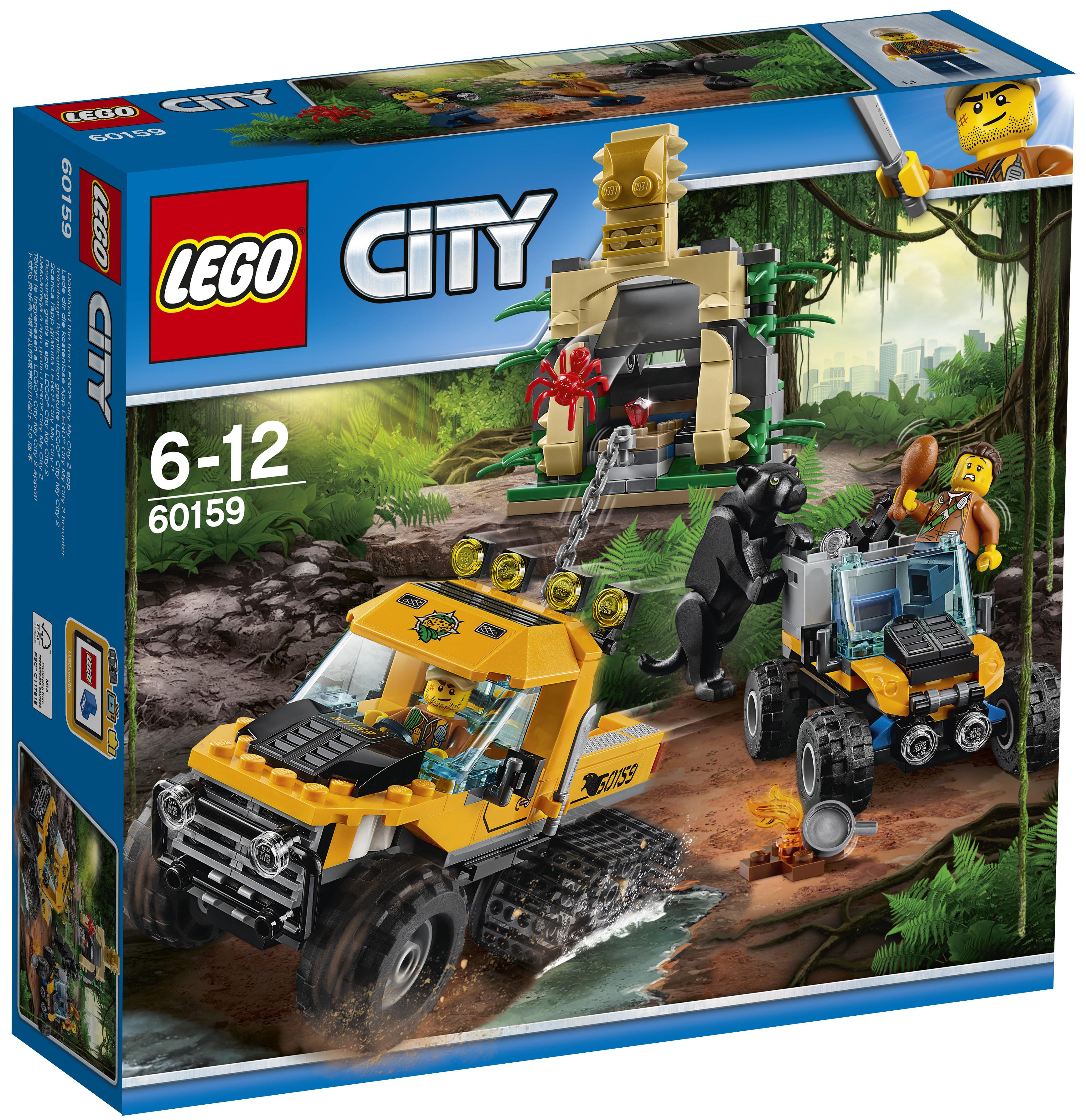 Конструктор LEGO LEGO City Jungle Explorer 60159 Миссия «Исследование джунглей»