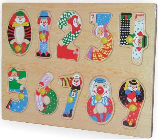 пазлы Wooden Toys Рамка-пазл Цифры