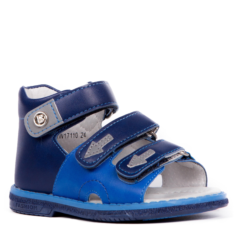 Купить Босоножки, Сандалеты для мальчика Barkito, сине-голубые, Китай, сине-голубой, Мужской