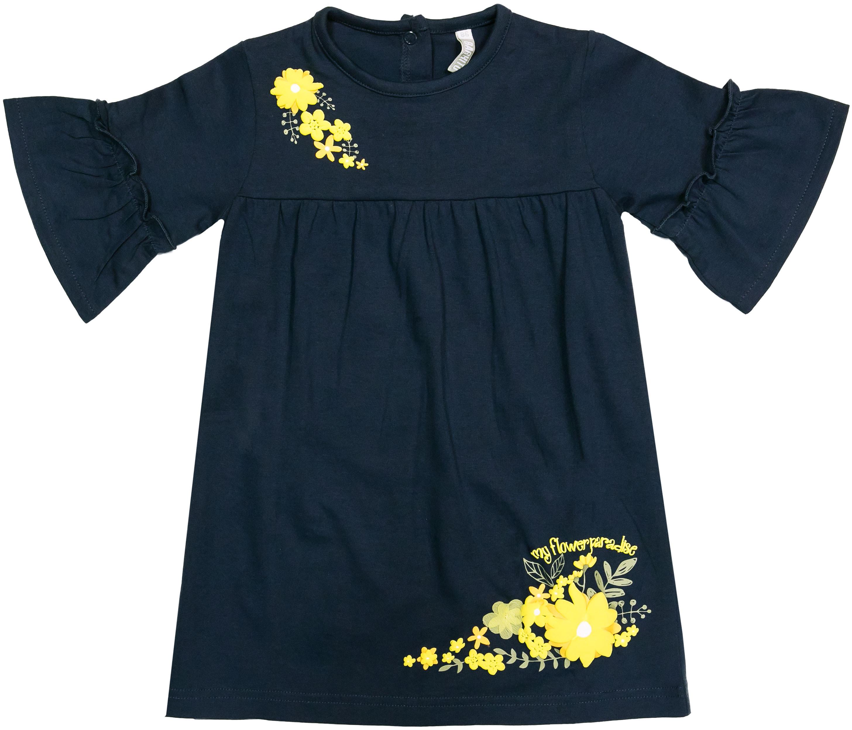 Платья Barkito Платье детское Barkito Желтые цветы, темно-синее платье lussotico lussotico mp002xw13lz5