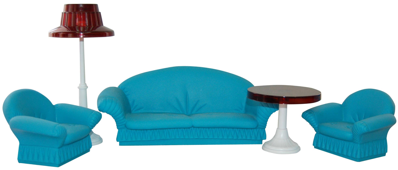 Мебель для кукол Огонек Игровой набор Огонек «Гостиная для кукол Конфетти»