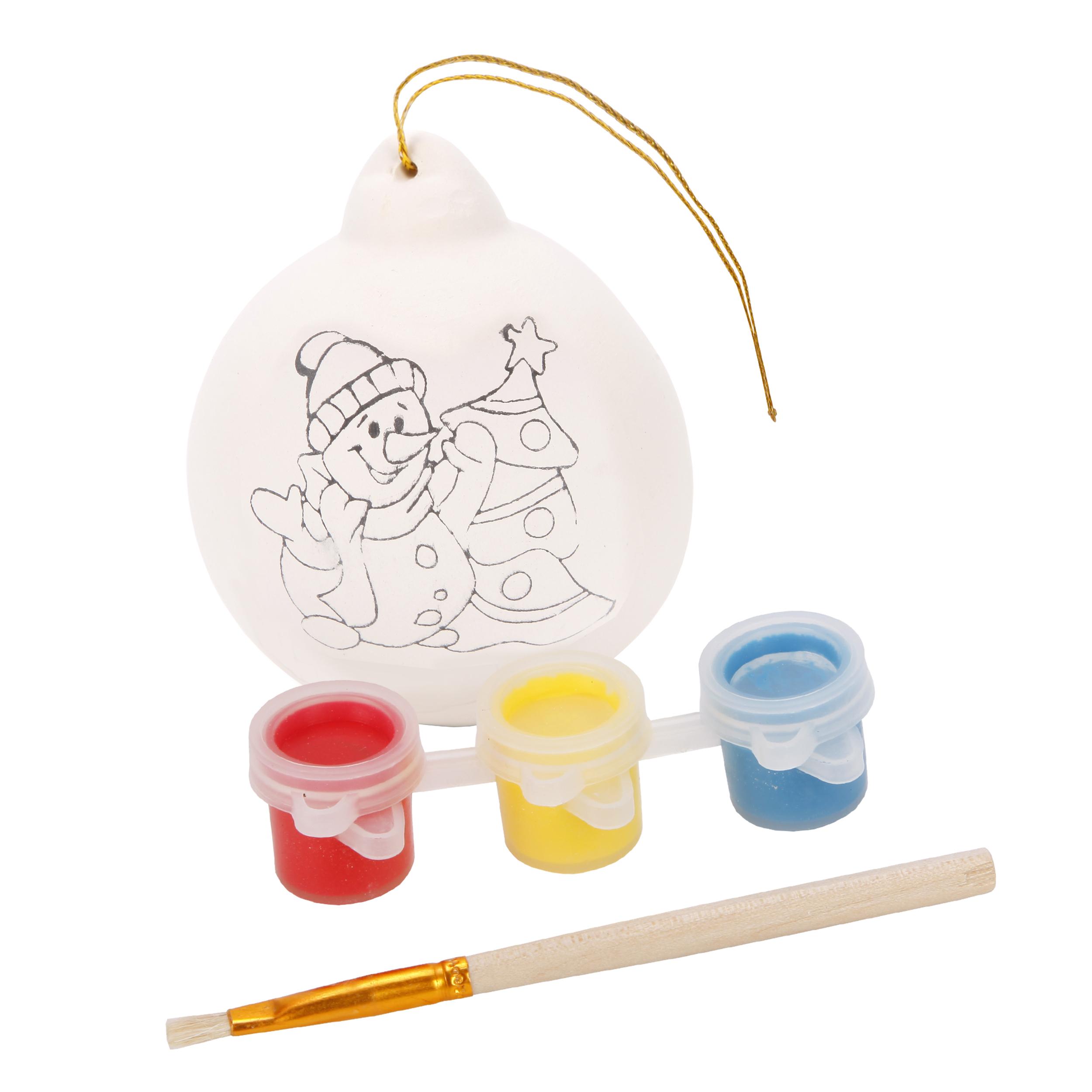 цена Набор для творчества Color Puppy Роспись шарика. Снеговик