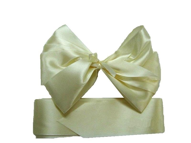 Комплект из атласных лент на выписку Арго 0100/ЛШ шампань комплекты на выписку арго одеяло на выписку для мальчика арго алиса шампань