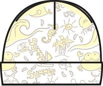 Первые вещи новорожденного Barkito Осьминожка 2 шт., экрю с рисунком, экрю портьеры шерил экрю