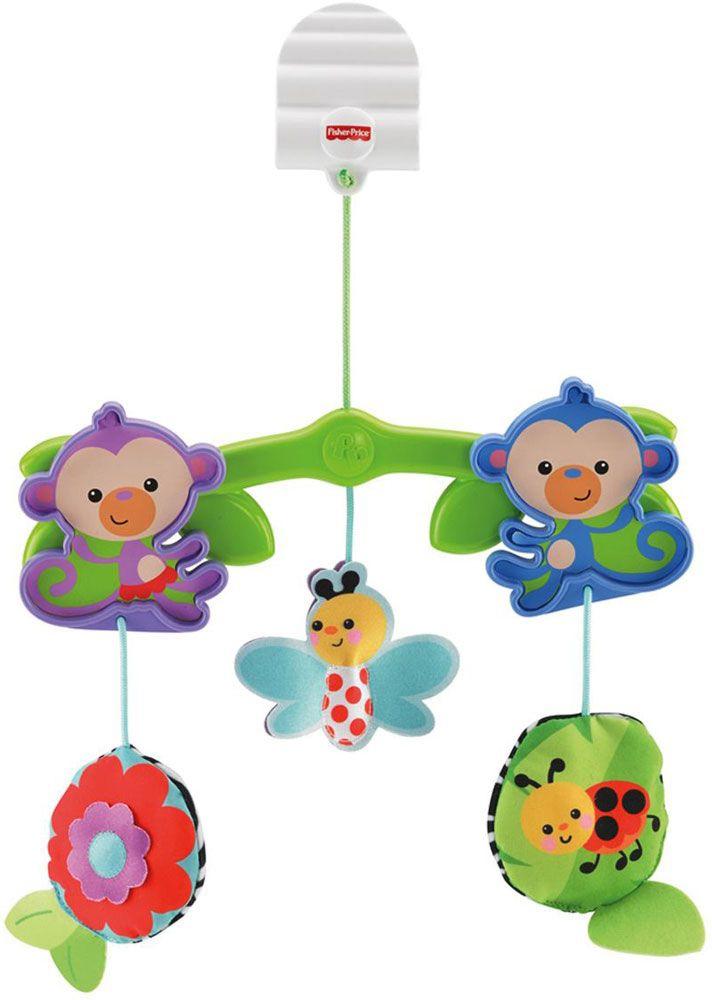 купить Мобили для малышей Fisher Price Обезьянки из тропического леса по цене 878 рублей