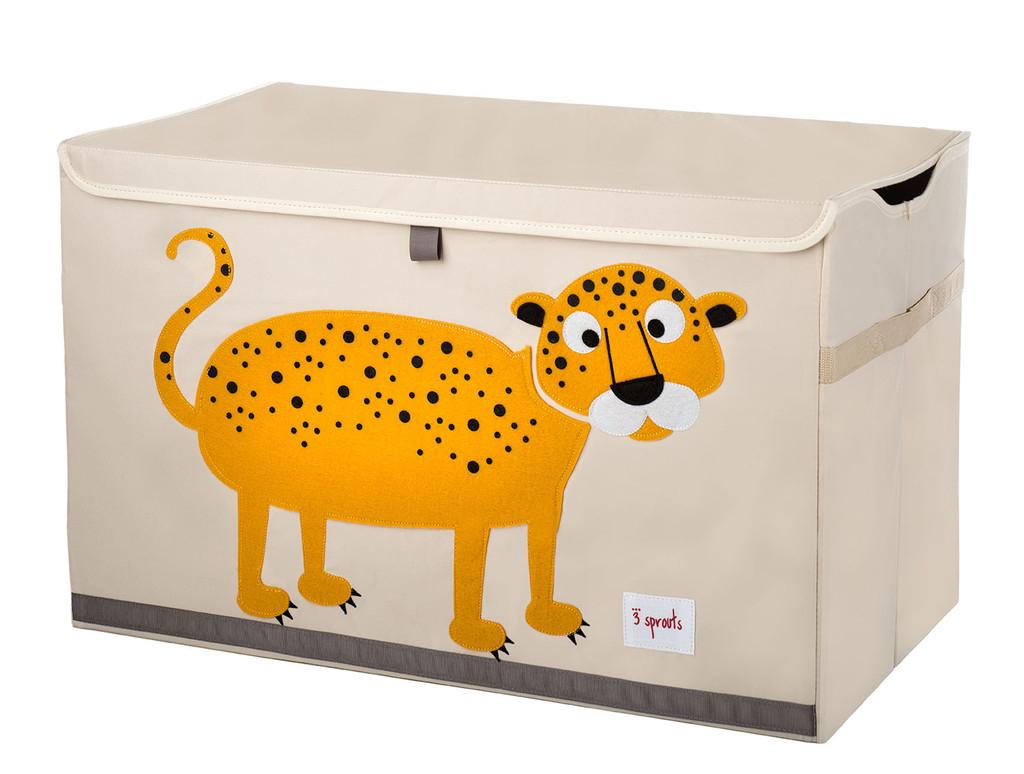 Ящики и корзины для игрушек 3 Sprouts Orange Leopard сундук большой 2557l
