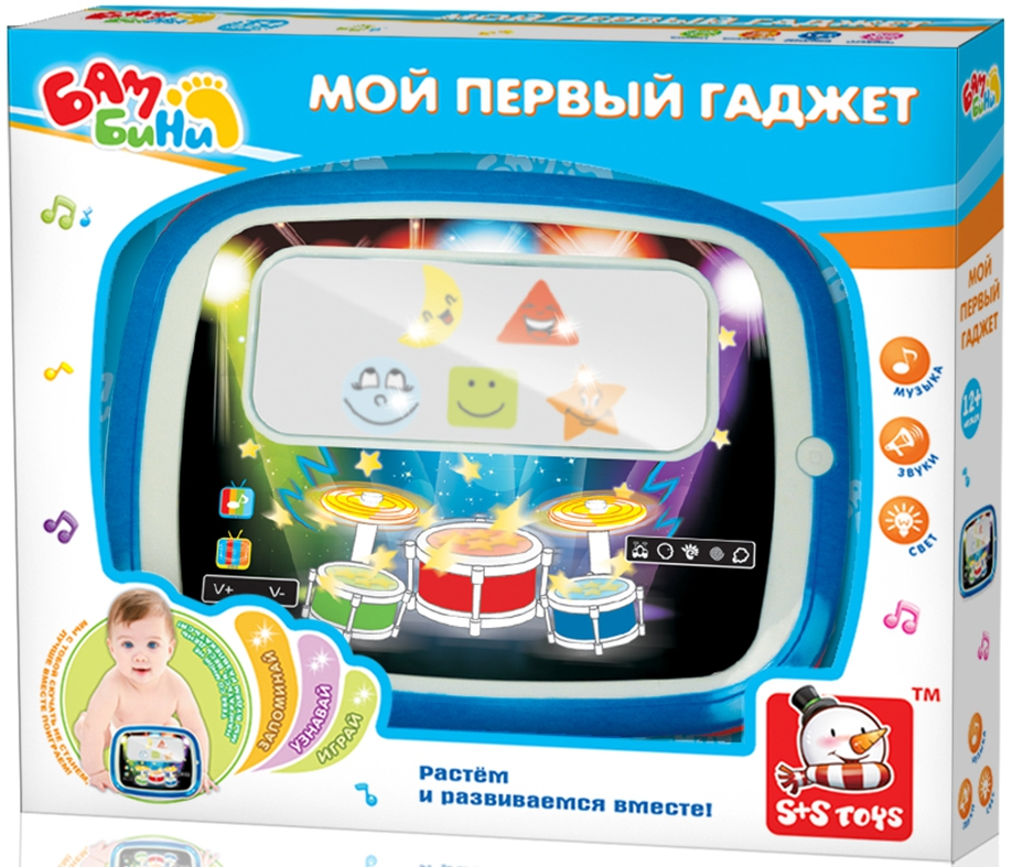 Интерактивная игрушка S+S TOYS Планшет Бамбини цена