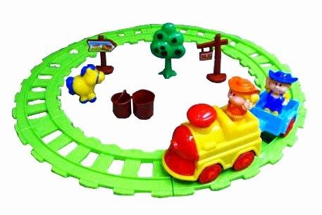 Железные дороги и паровозики Голубая Стрела Железная дорога Голубая стрела «Веселый фермер» железные дороги brio железная дорога с автодорогой и переездом