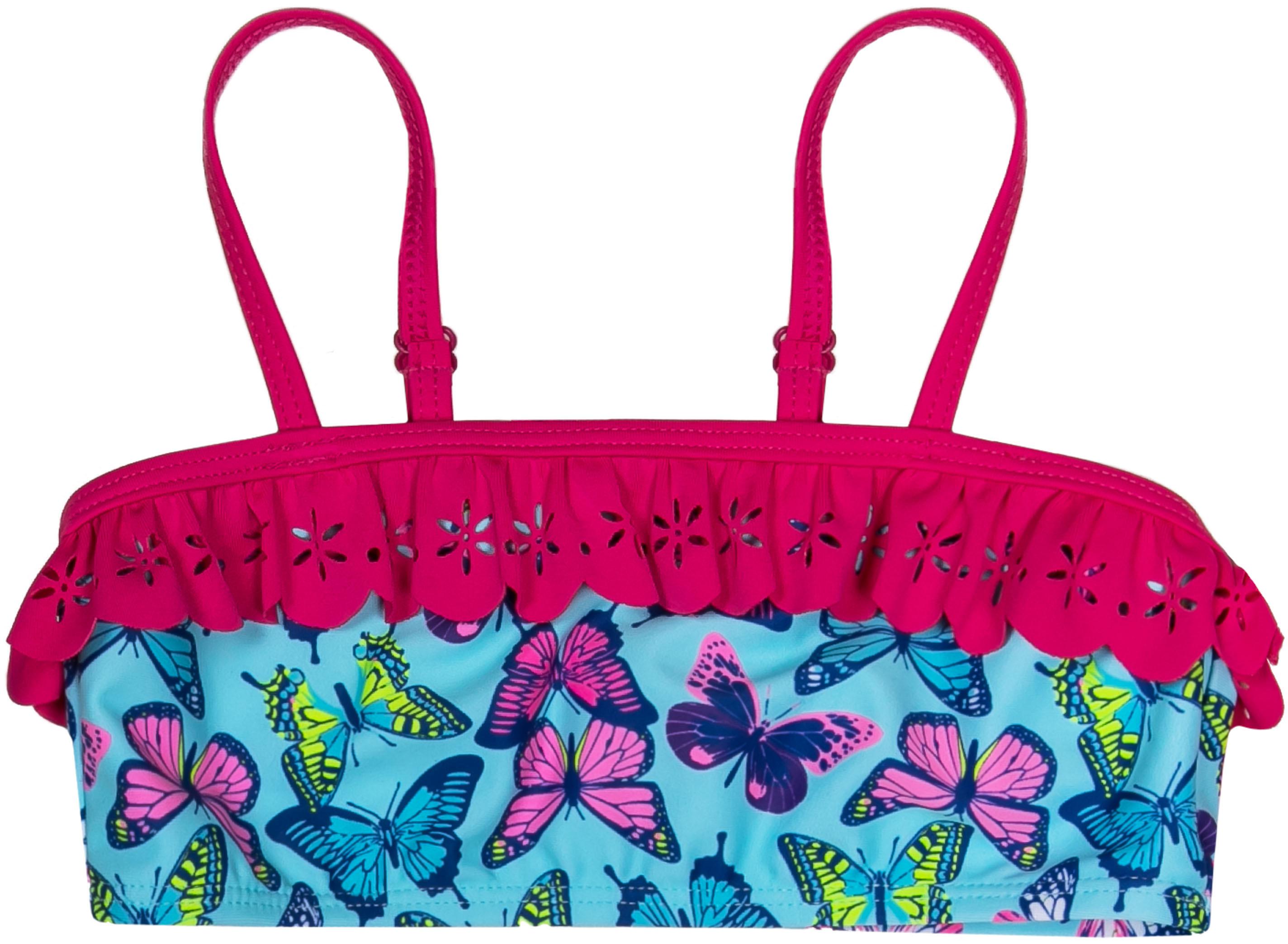 Купить Купальники и плавки, Пляж SS18 нежно-голубой с рисунком и розовой отделкой, Barkito, Китай, Женский