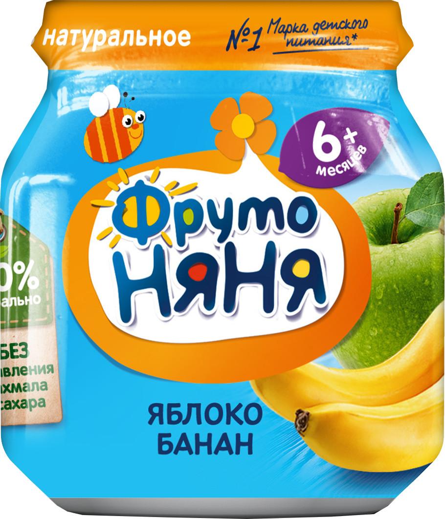 Пюре Прогресс ФрутоНяня Из яблок и бананов (с 6 месяцев) 100 г цена