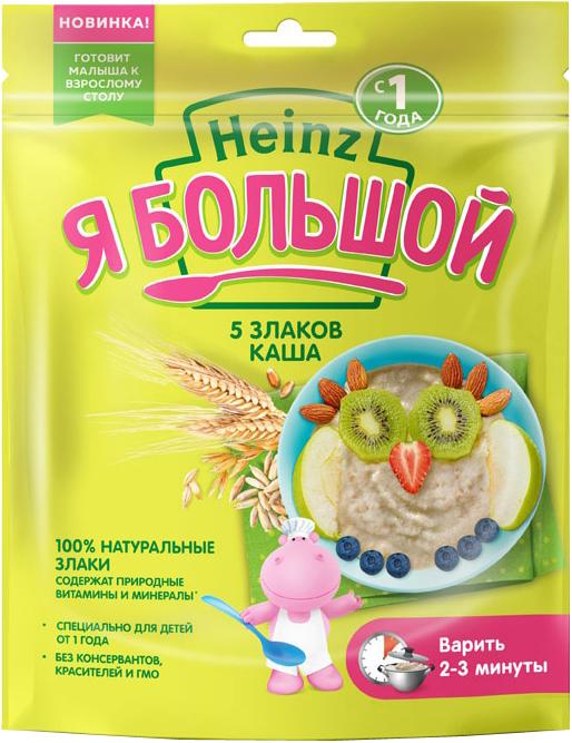 Купить Каша, Heinz Безмолочная 5 злаков Я Большой (с 12 месяцев) 250 г, 1шт., Heinz 76008560, Россия