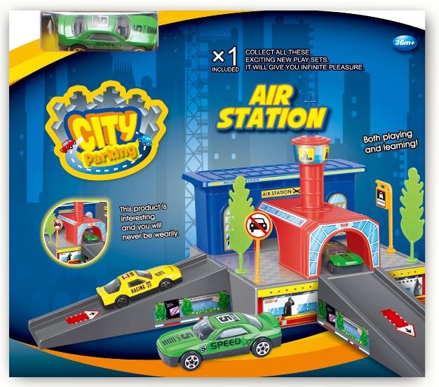 Игровой набор Dave Toy Dave Toy Аэропорт с 1 машинкой dave toy полицейский участок 32024