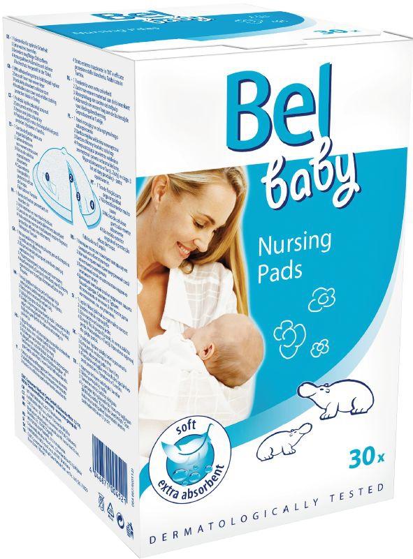 Вкладыши в бюстгальтер HARTMANN Bel Baby анатомические 30 шт. хартманн hartmann bel family палочки с ватными головками 160шт