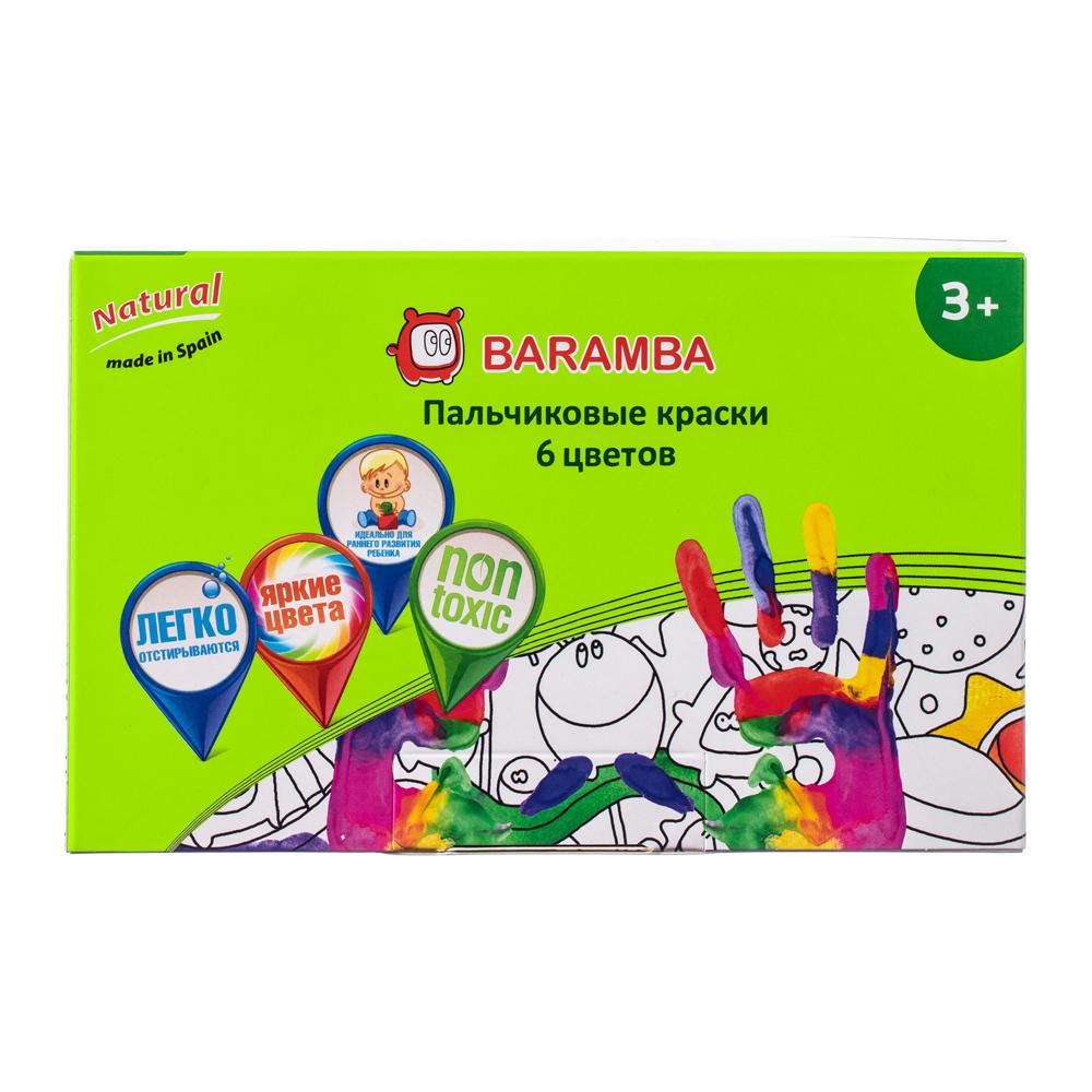 Пальчиковые краски Baramba 6 цветов 40 мл пальчиковые краски jovi 6 цветов 566