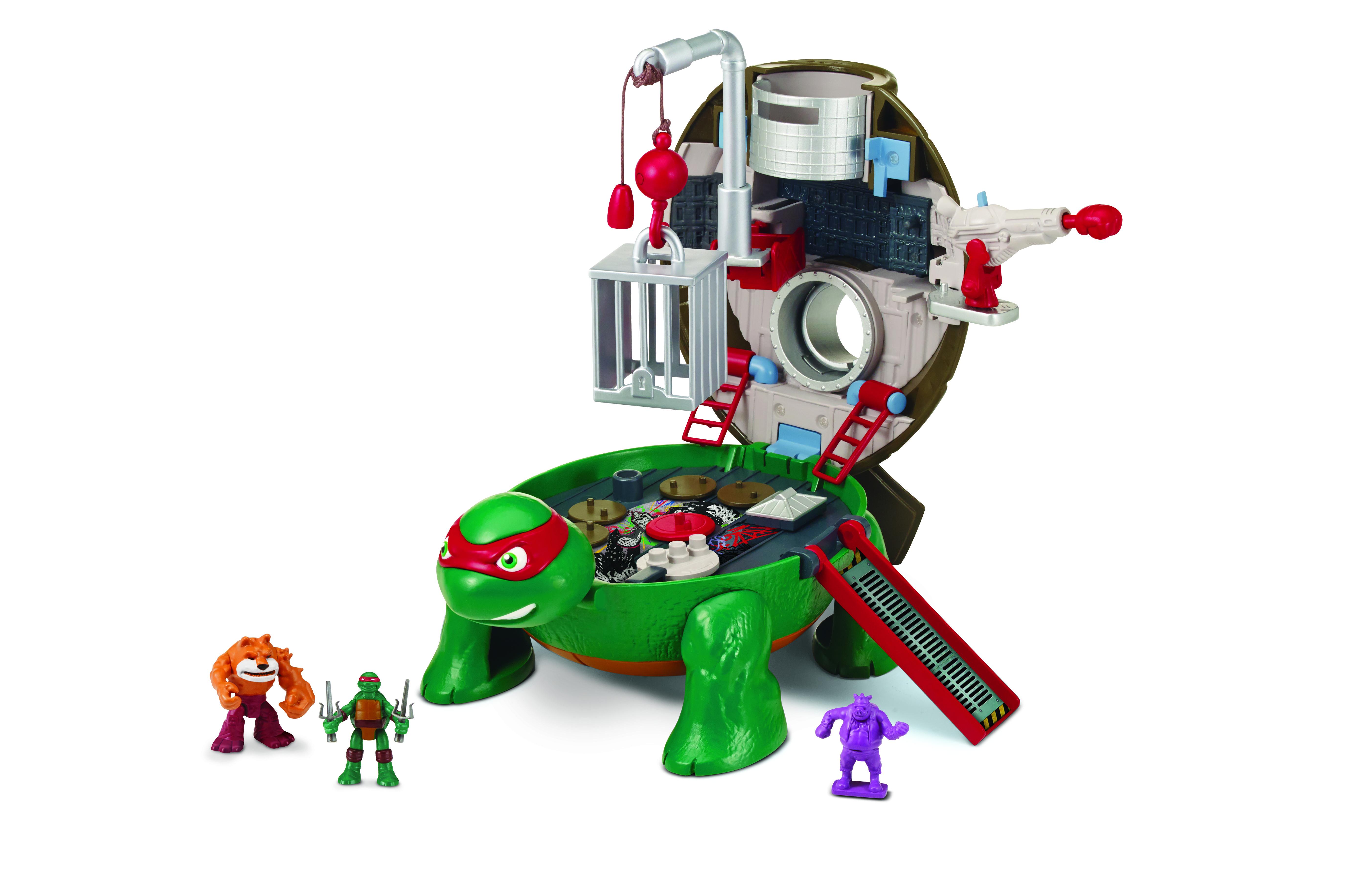 Игровой набор Черепашки Ниндзя Рафаэль на крыше игровой набор черепашки ниндзя функциональные мини игры разноцветный