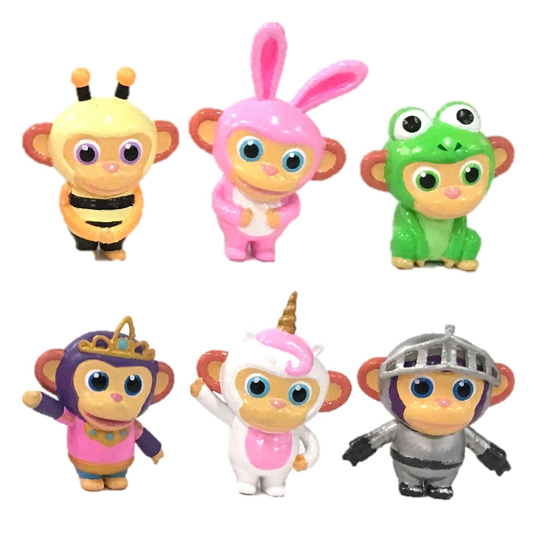 Фигурки героев мультфильмов Wonder Park Волшебный парк Джун. Вагончик и 3 обезьянки вагончик смоленск